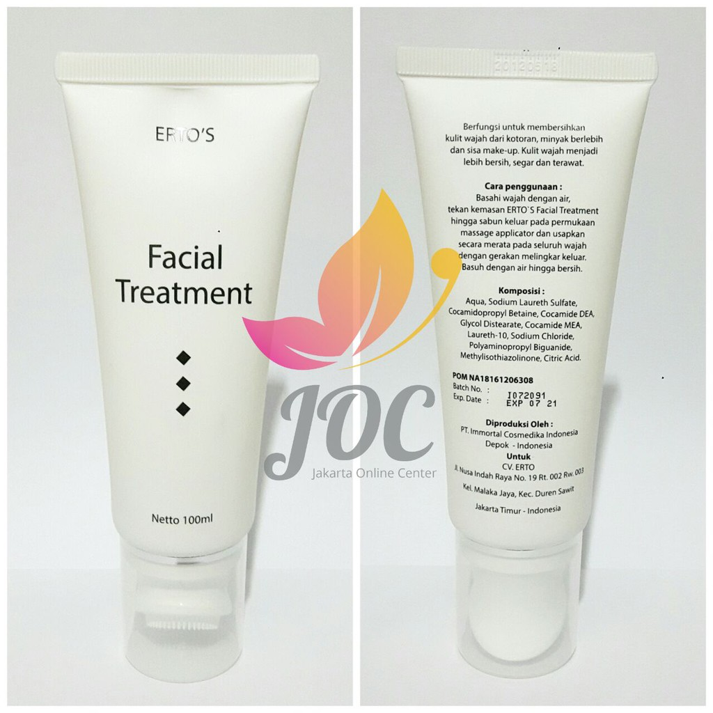 Facial Treatment Ertos Original Bpom Shopee Indonesia Toner Refreshner Brightening Erto 100 Ml Skincare Kf 89