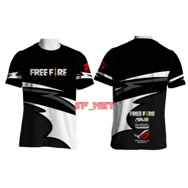 Baju Kaos Jersey Gaming Free Fire Ff Custom 28sf