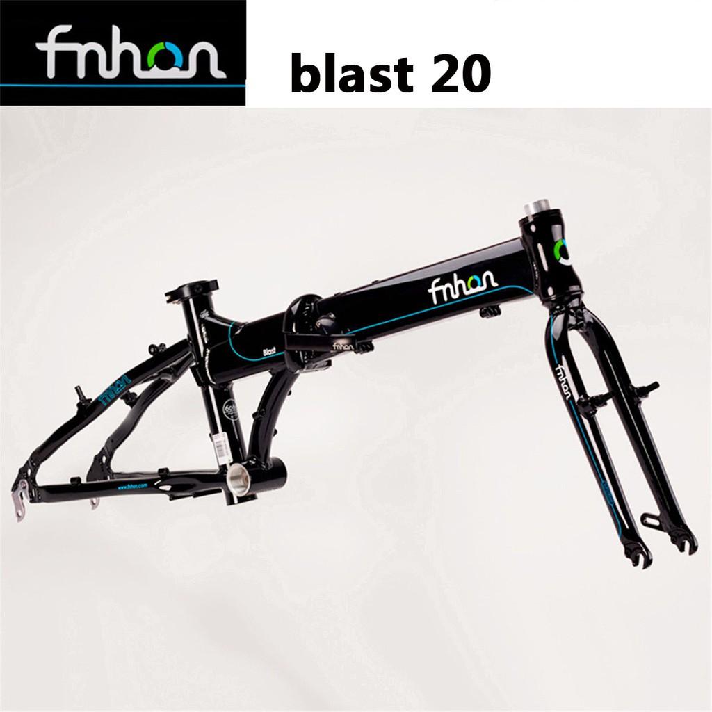Fnhon V Brake Lipat Sepeda Bingkai Blast 20 Cocok Untuk Sepeda Modifikasi Sepeda Lipat 20 Inch P8 Sp18 Aluminium Alloy Frame Bagian Sepeda Termasuk Sepeda Garpu Depan Sepeda Kepala Tabung Folding Bicycle Including Head