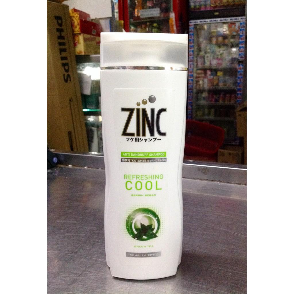 Zinc Shampo Refreshing Cool 340ml Shopee Indonesia Clear Shampoo Anti Ketombe Ice Menthol 340 Ml Tiwin Pack