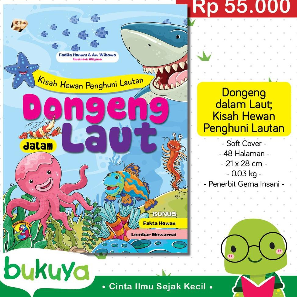 ✡ ❊ Buku Anak Cerita Fabel Dongeng Dalam Laut Kisah Hewan Penghuni Lautan ♘