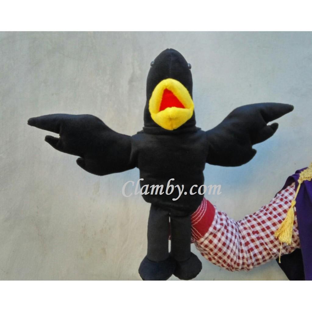 Boneka Muppet Puppet Boneka Tangan Karakter Burung Gagak Hitam Bird Shopee Indonesia