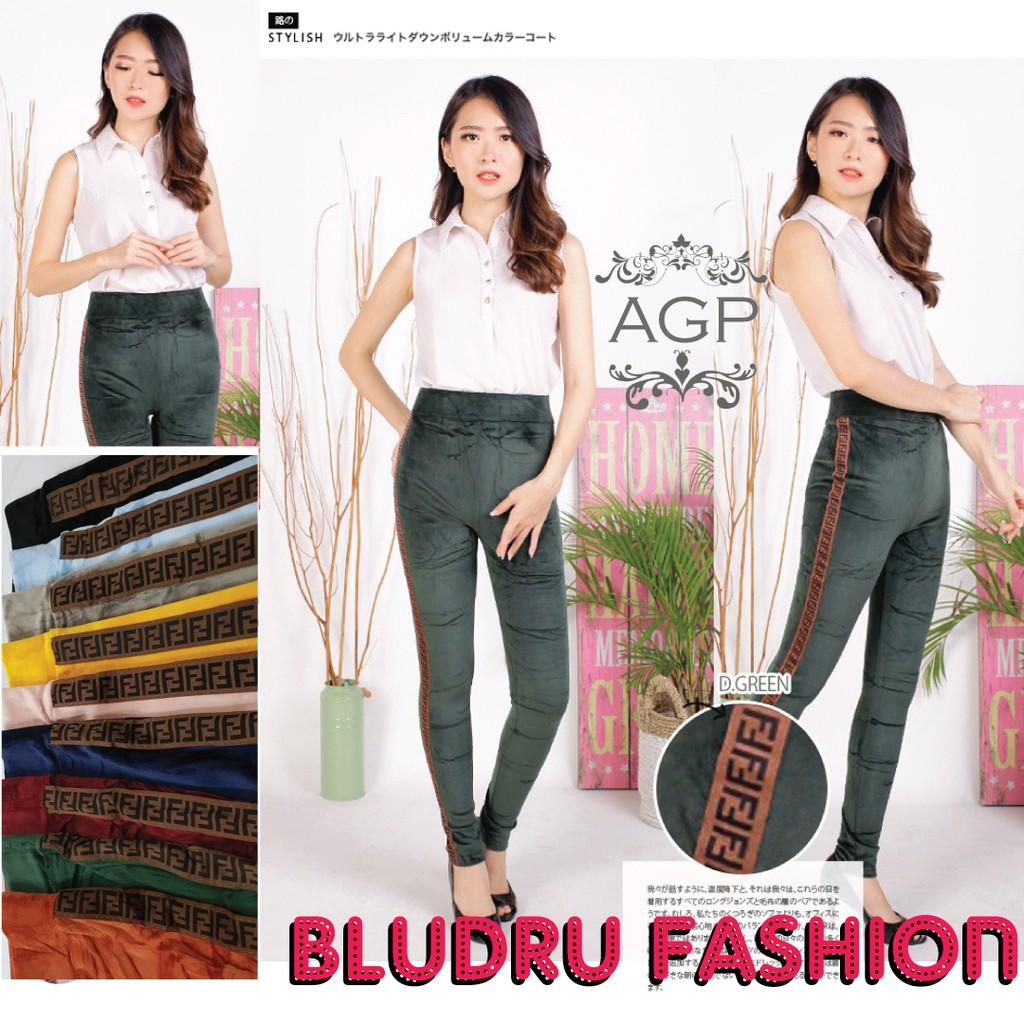 Cod Legging Bludru Wanita Celana Legging Bludru Ff Bludru Fendy Shopee Indonesia