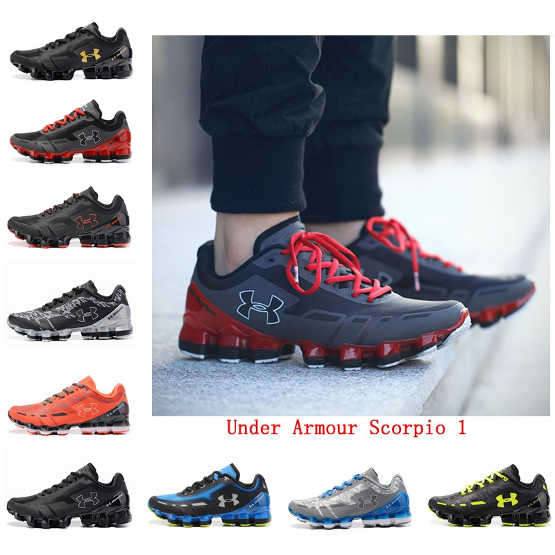 Under Armour Scorpio 1 Sepatu Pria Olahraga Mode Santai Sneakers Running  Shoes  28c8f219fa