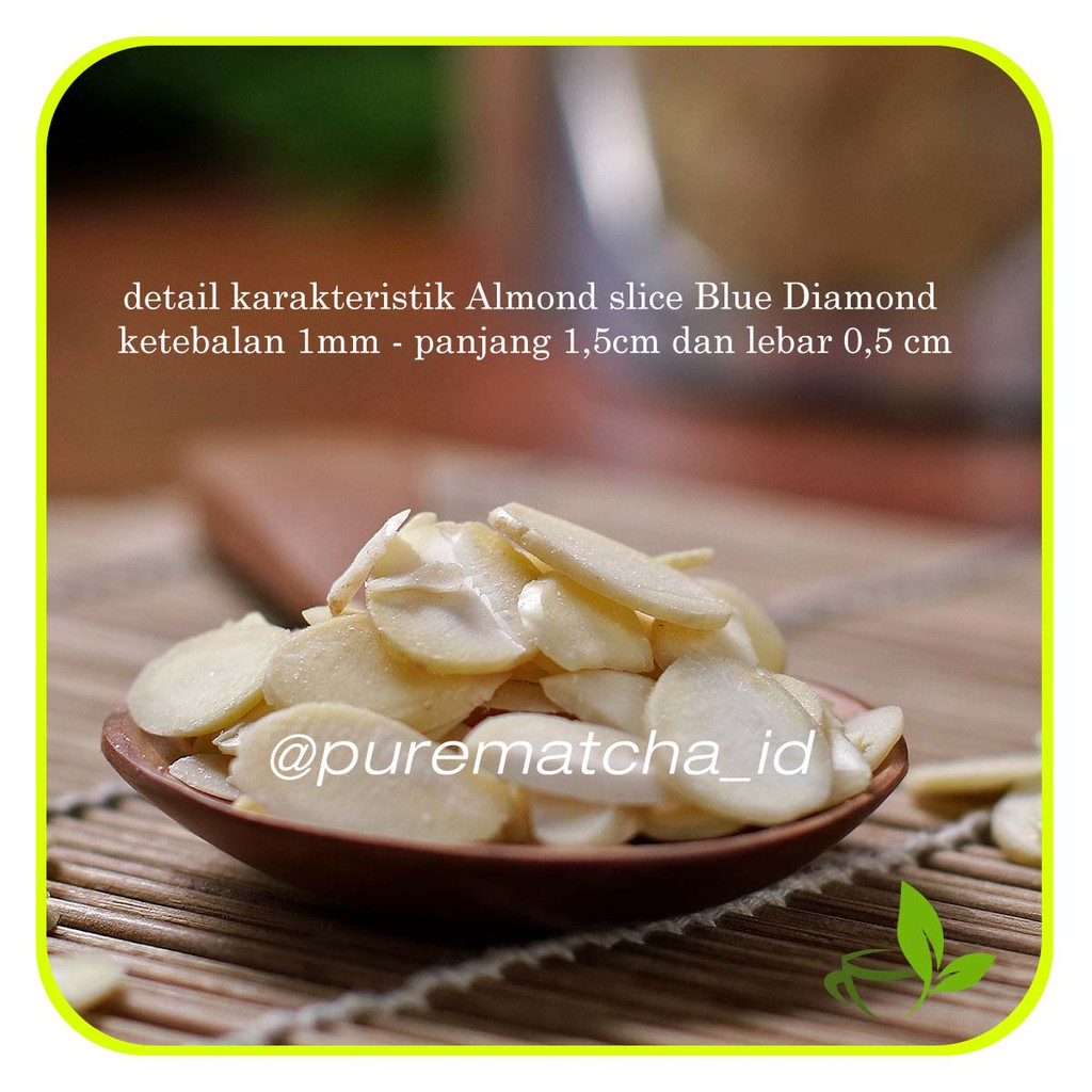 Natural Almond Skinless 1 Kg Kacang Kupas Shopee Indonesia Blue Diamond Whole Raw