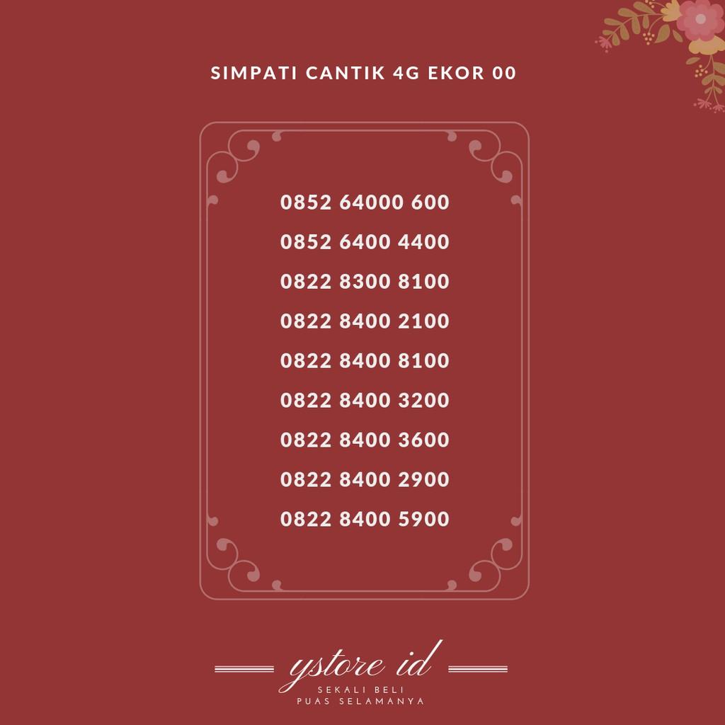 NOMOR CANTIK SIMPATI EKOR BELAKANG 5758 KARTU PERDANA TELKOMSEL SERI 0812 1003 5758 | Shopee Indonesia