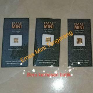 Emas Mini 0 1 Gr Logam Mulia Emas Batangan 24k Kwitansi Asli