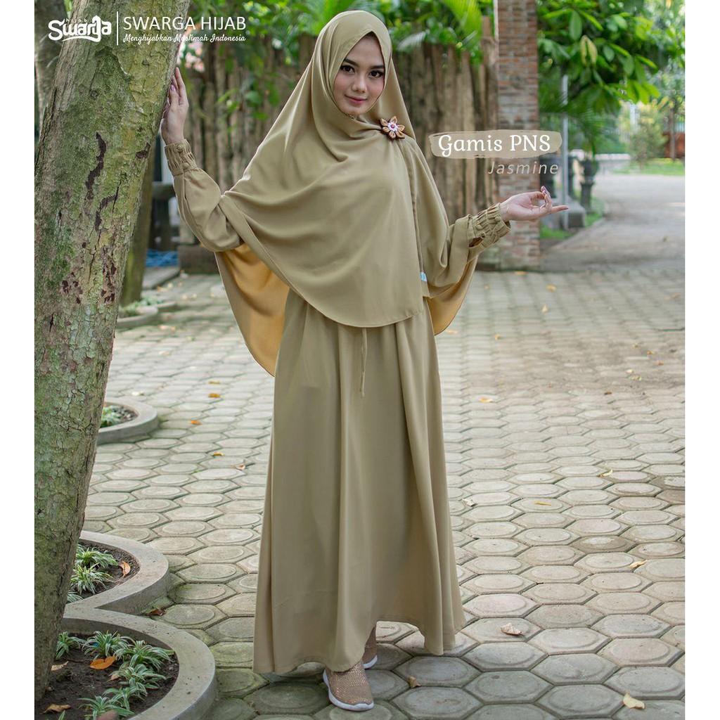 Gamis Pns Original By Swarga Hijab Shopee Indonesia