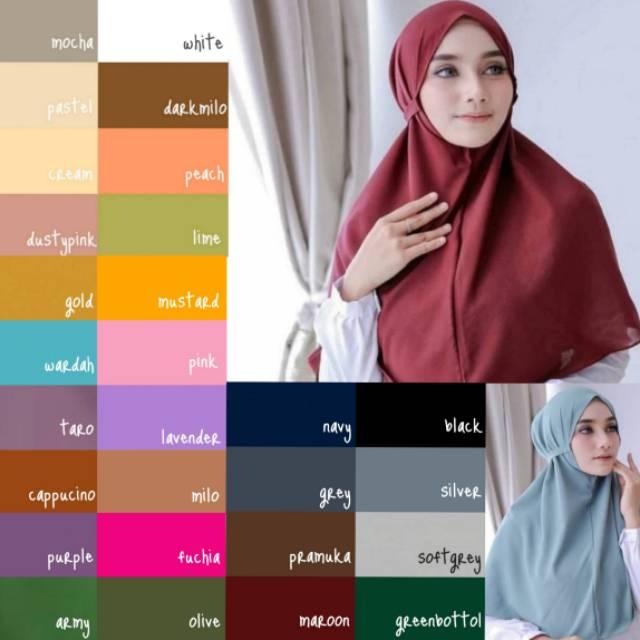 Bergo Maryam Diamond Bergo Diamond Hijab Bergo Hijab Instan Shopee Indonesia