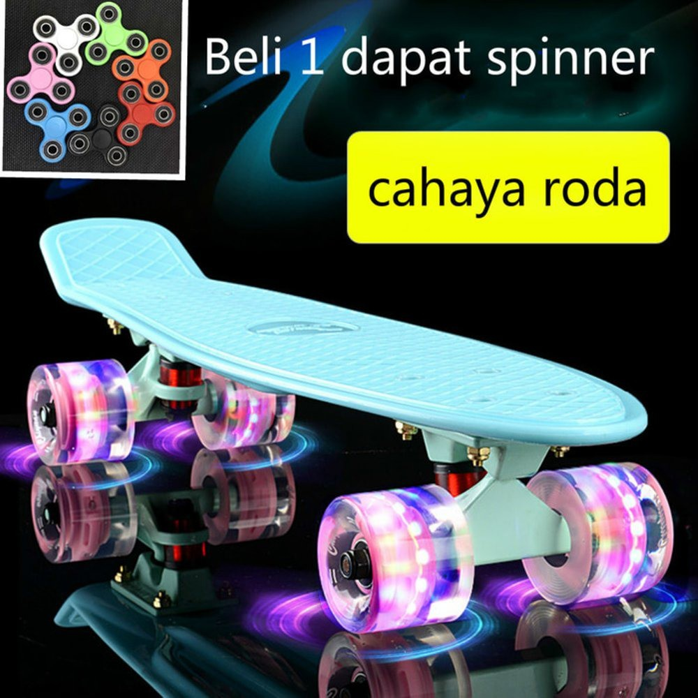 Penny Board Led Pu Whells Skate Papan Skateboard Fish Ban Sepatu Roda Banana Shopee Indonesia