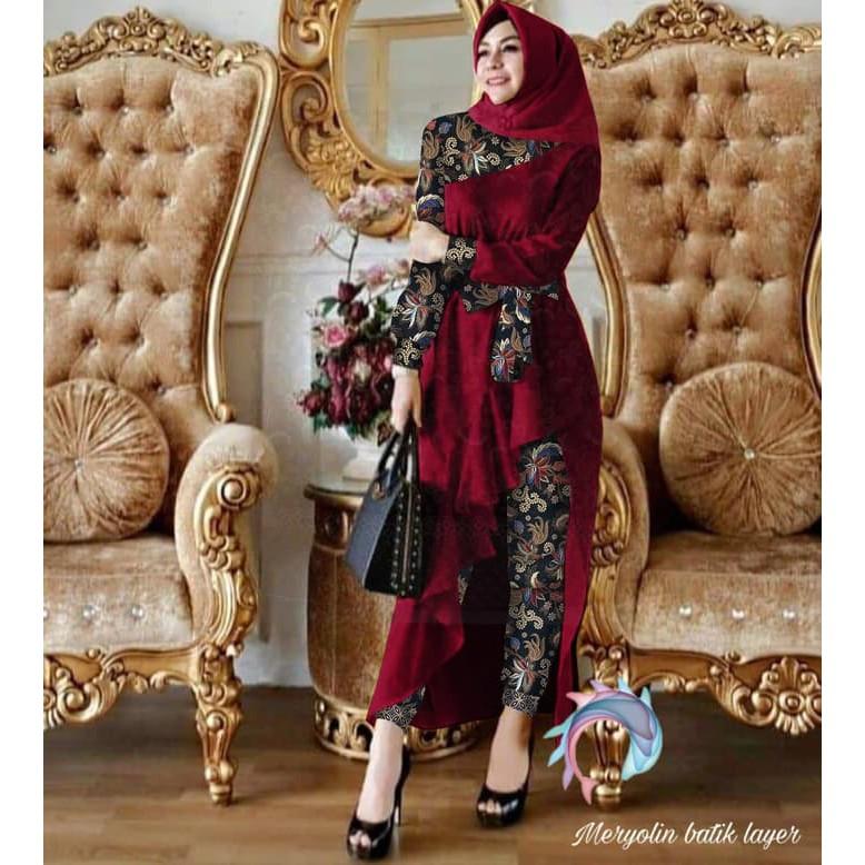 Trand Terbaru 2020 Gamis Remaja Anaya Nadin Aida Maxi Lebaran Hopylovy Set Meryolin Batik Mar 31wwy Shopee Indonesia