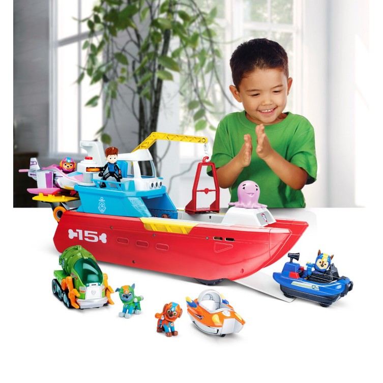 Nickelodeon Paw Patrol  Sea Patroller Transforming Vehicle with Lights Sounds