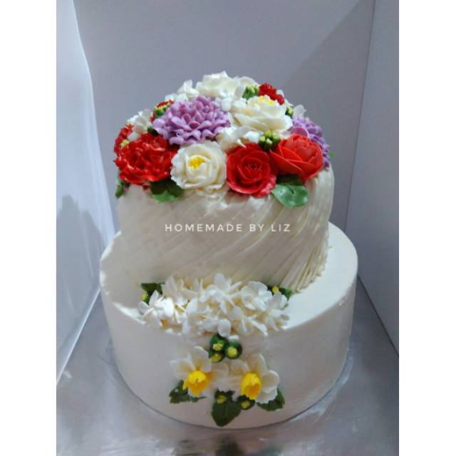 Kue Ulang Tahun Anniversary Wedding Cake Cikarang