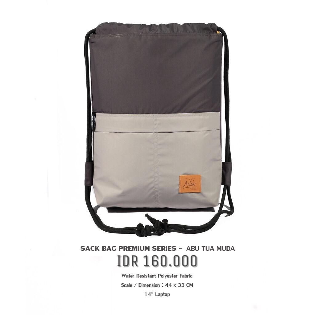e3614b1fa2 Tas Serut String Bag Gym Sack Bag Portable Sekolah Kuliah Kerja Olahraga -  PREMIUM NAVY