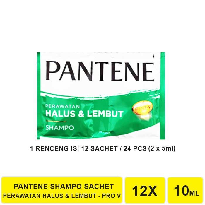 SHAMPO PANTENE SACHET 1 RENCENG ISI 12 SACHET-HIJAU