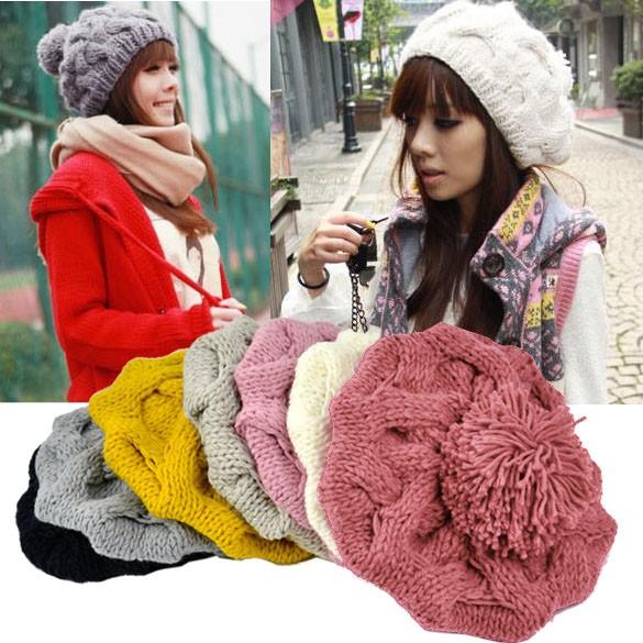 Aksesoris Fashion Wanita  Topi Kupluk Ski Model Renda Crochet untuk Musim  Dingin  7ef3bc04dc