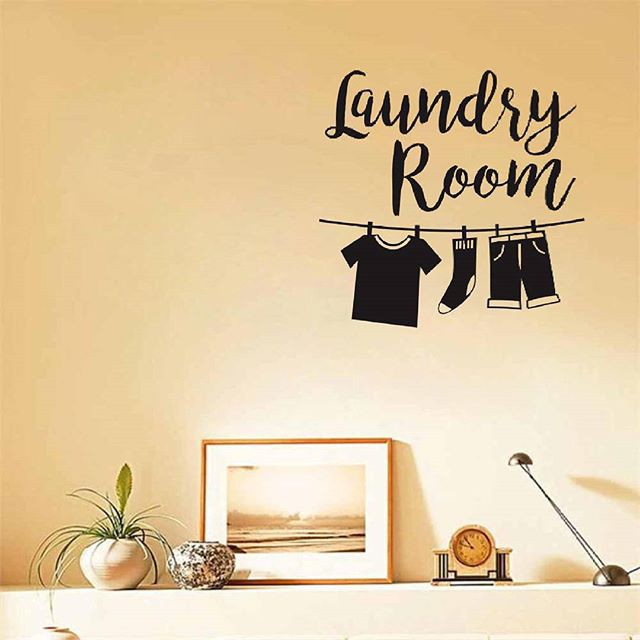 STICKER MESIN CUCI /  STICKER CUTTING LAUNDRY ROOM CLOTHES