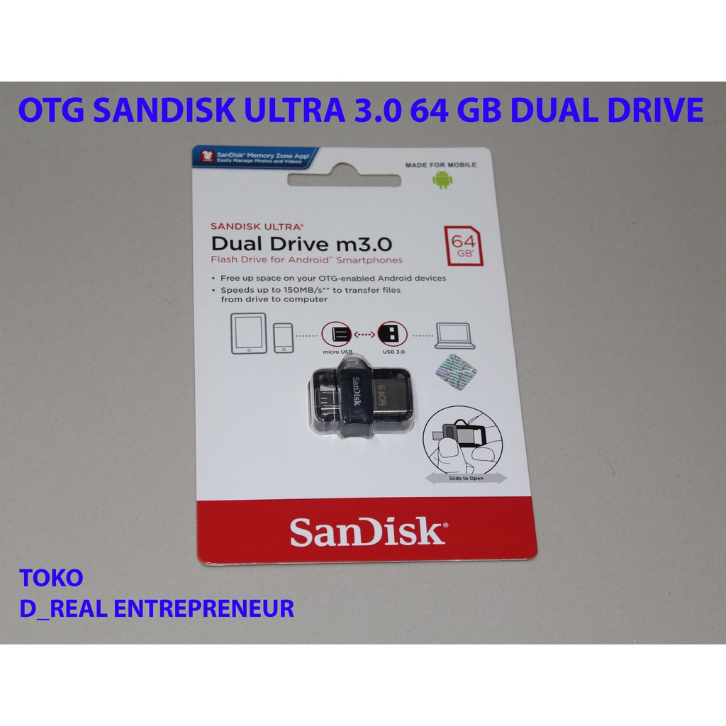 Sandisk Ultra Dual Usb Otg 32gb Flash Drive 30 Shopee Indonesia 16gb Grey Ori