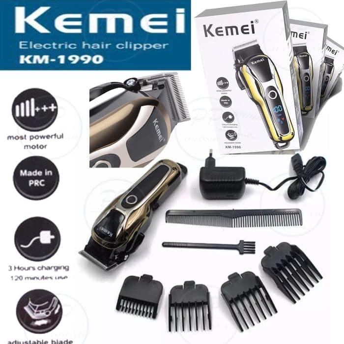 Jualan Kemei Iron Man Km-508 2 In 1 Hair Clipper Waterproof Men Cordless  Bagus 7a883e1a4b