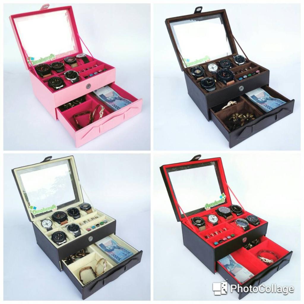 Jumbo Kotak Tempat Jam Tangan Isi 10 Sport Box Watch Coklat Full For Traveler 3 Wadah Brown Cream Shopee Indonesia
