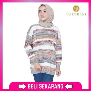 Wardhani - Baju Rajut Wanita Sweater Rajut Calla Bahan Rajut Halus Burgandy Fit XL Stok Terbatas