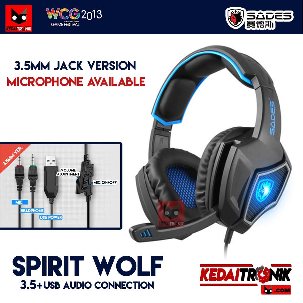 Sades Wolfang Sa 901 Headset Gaming High Quality Bass Biru Daftar Locust 704 Spirit Wolf Jack 35 Usb Microphone Headphone Shopee Indonesia