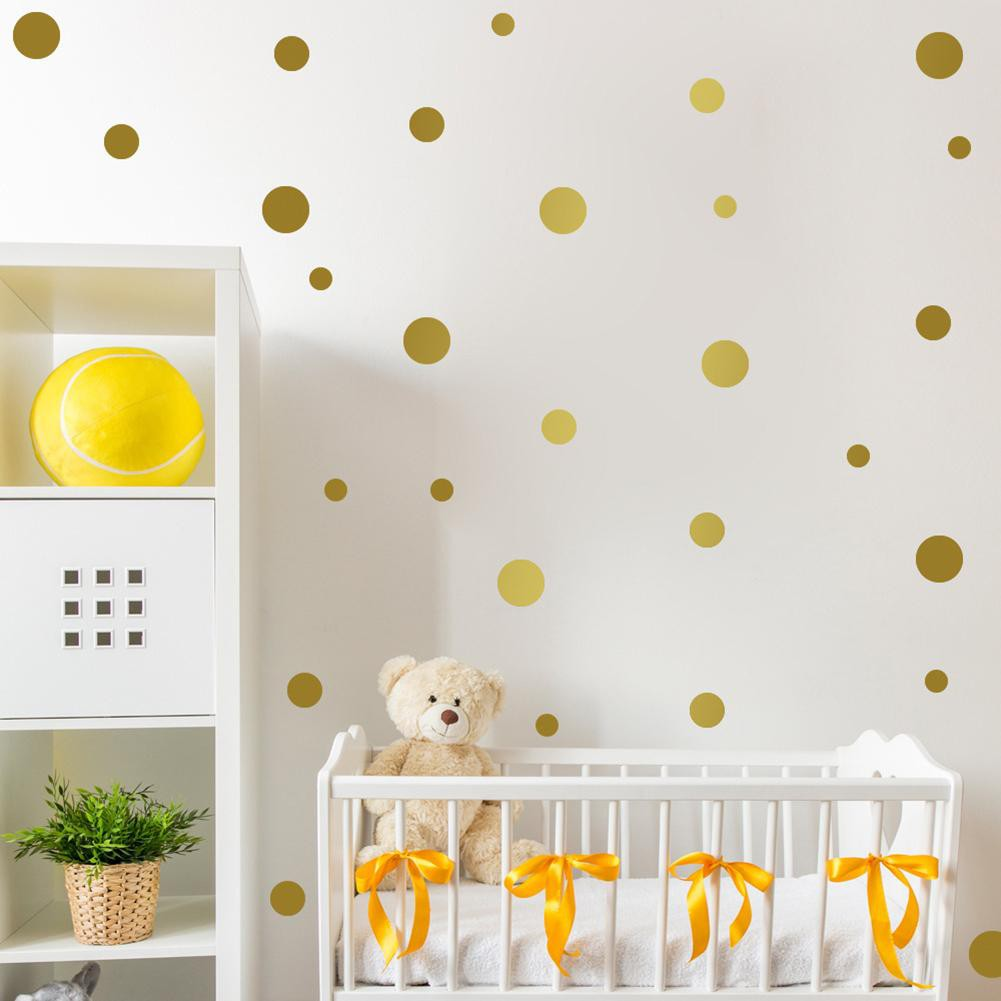 Dots Wall Stickers Diy Kids Bedroom Background Decoration Sticker