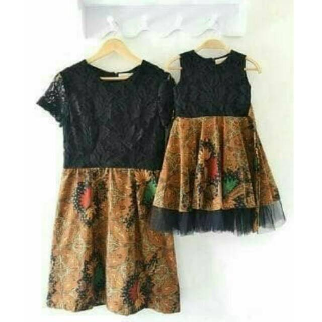 Dress Brokat Kombinasi Batik