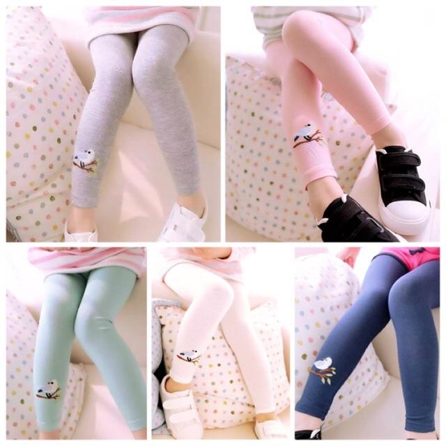 2 6thn Legging Anak Perempuan Import Impor Embroidery Summer Birdie Celana Legging Polos Anak Shopee Indonesia