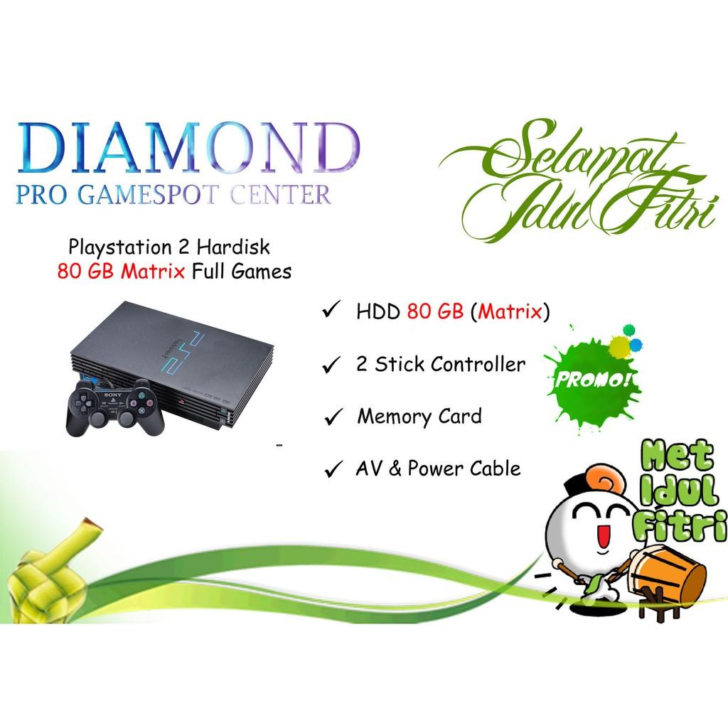 Playstation 2 Ps2 Fat Japan Matrix Harddisk 40gb Full Games Hardisk Hdd External Mc Boot Shopee Indonesia