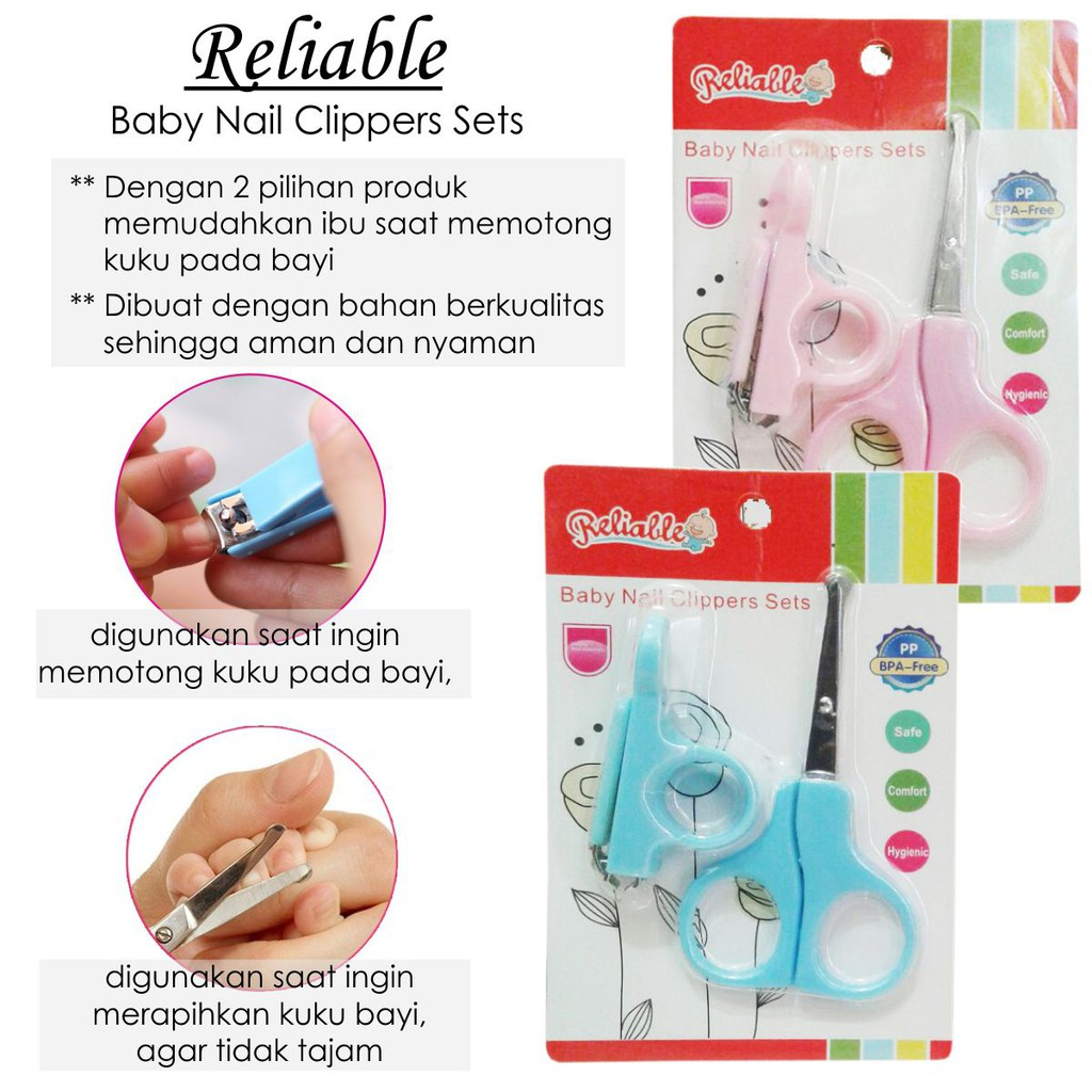 Reliable Gunting Kuku Bayi Baby Nail Clip Isi 2 Shopee Indonesia Manicure Set Iq