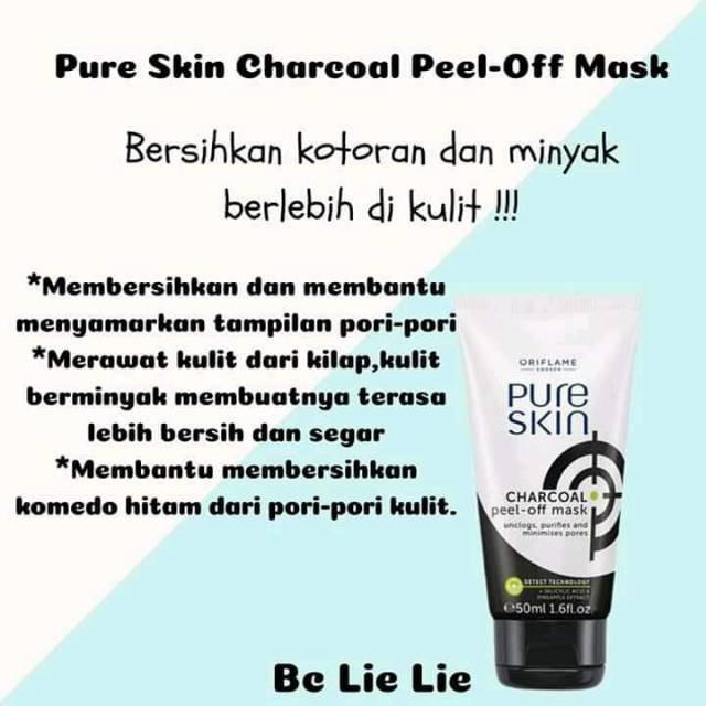 Pure Skin Charcoal Peel Off Mask Oriflame Promojuli Shopee Indonesia