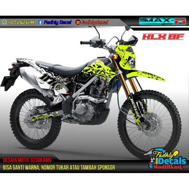 Decal KLX BF Kuning stabilo putih Hitam
