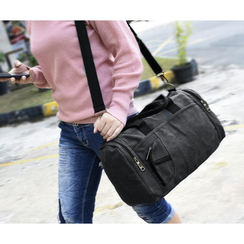 Baepack Vineyard Canvas Multifunction Travel Satchel Messenger Shoulder Bag - Olive | Shopee Indonesia