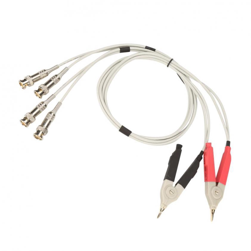 1 Set LCR Test Leads Capacitance and Resistance Test Clip Cable Wire Test Line with BNC Terminal for LCR Meter Measuring Inductance