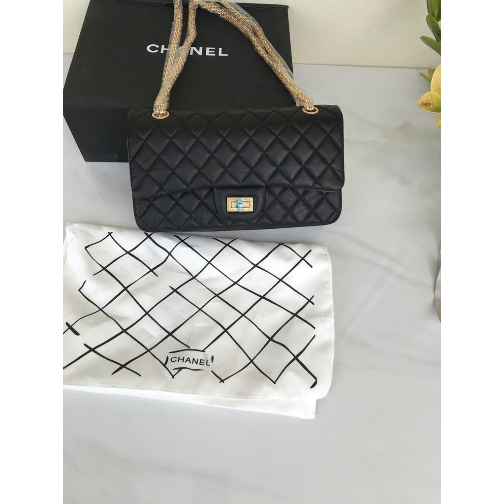 4b036f63e36e Tas Chanel Classic Reissue Medium Calfskin Hitam Mirror 2018 ...