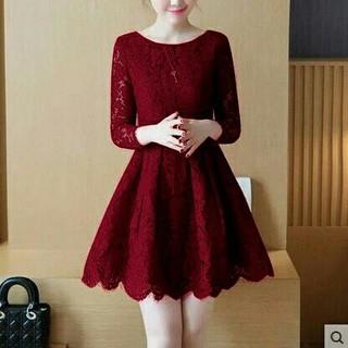 HCL DRESS SIYA   DRESS WANITA   DRESS MURAH   DRESS BRUKAT   BAJU NATAL   2ad71bec1d