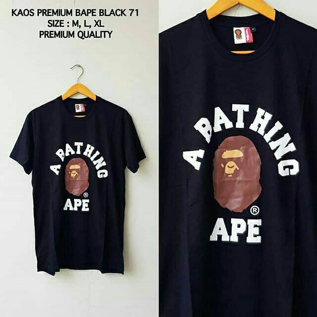 KAOS BAPE SHARK CAMO HALF 33 PREMIUM BATHING APE BAJU COWOK TEE PRIA IMPORT   66ba2f7162