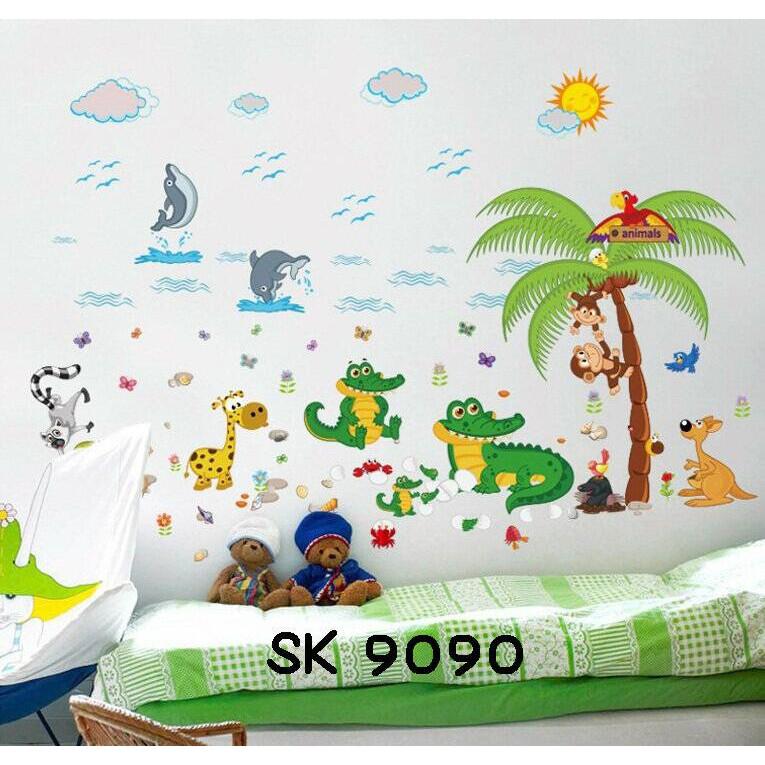 Wall Stiker Uk.60x90 Wall Sticker Dinding Putri Duyung Kapal Selam | Shopee Indonesia