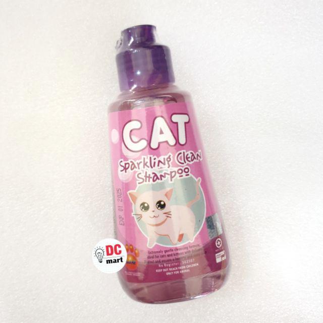 SPARKLING CLEAN CAT Shampo Hewan 150mL / Shampoo anjing kucing musang kelinci RAID ALL-Sparkling Purple