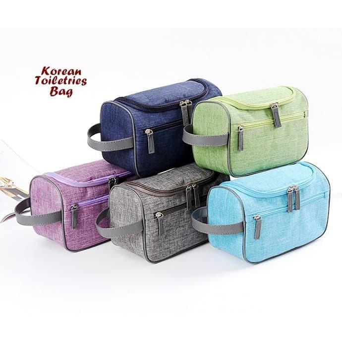 Korean Toiletries Bag SIDE STRAP (Tas kosmetik & perlengkapan mandi) | Shopee Indonesia