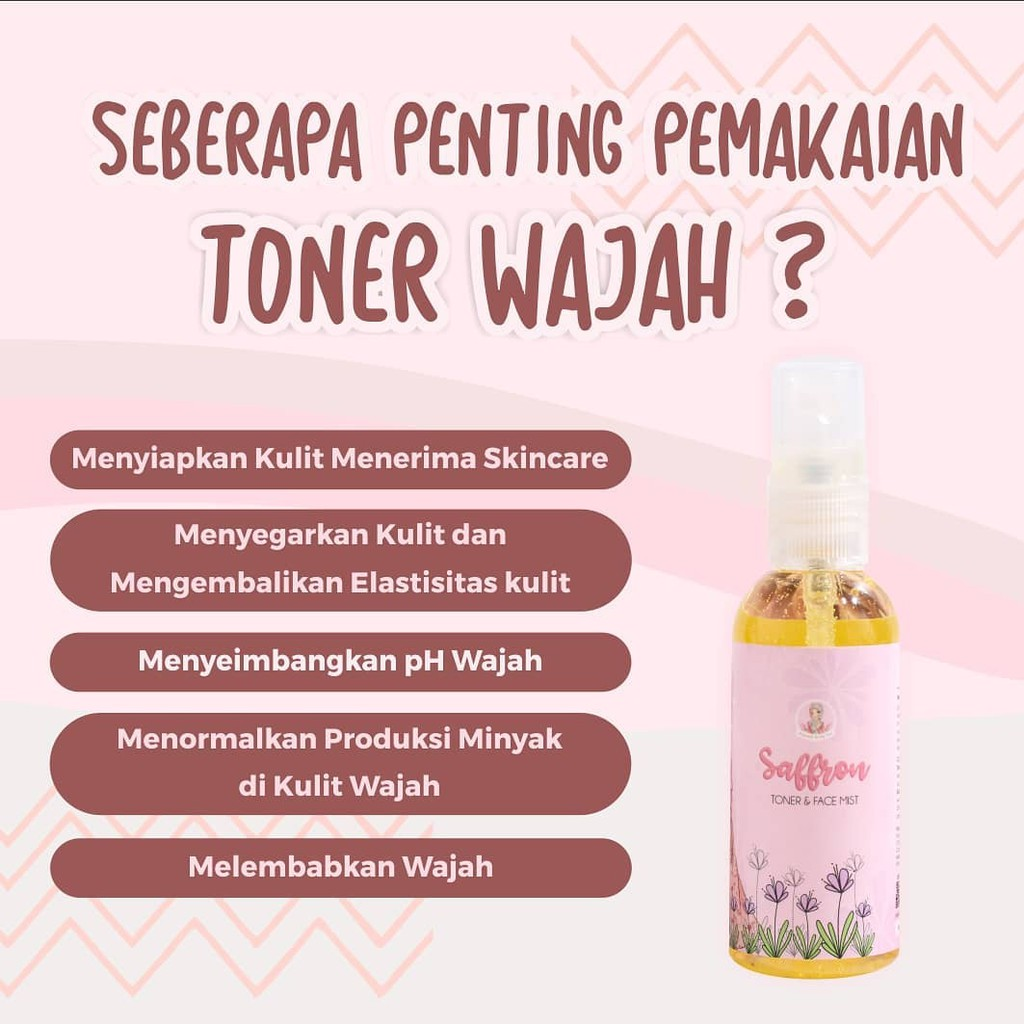 Ts2 Toner Saffron Face Mist By Muslimah Beauty Care Melembabkan Kulit Wajah Pria Wanita Mbc Shopee Indonesia