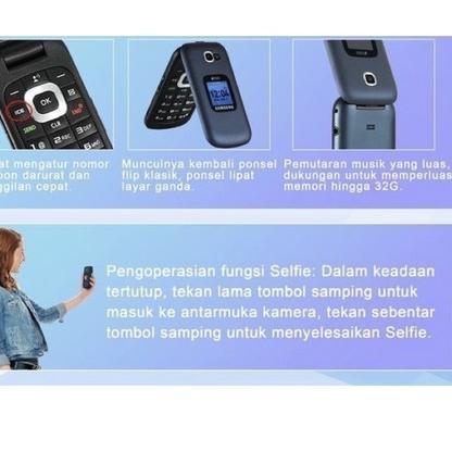 Terbaru - HANDPHONE SAMSUNG B311V Dual SIM NEW TERLARIS HP SAMSUNG LIPAT B311V