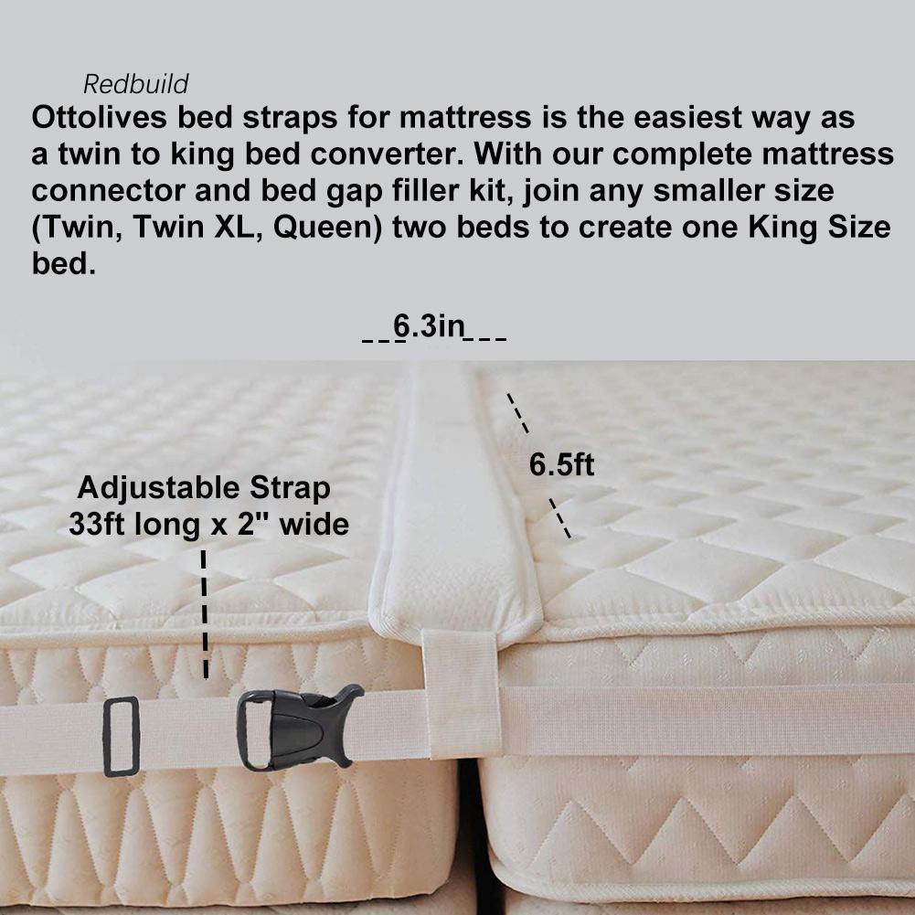 Bed Converter Set To King Mattress Gap Filler Bed Bridge For Adjustable Twin New