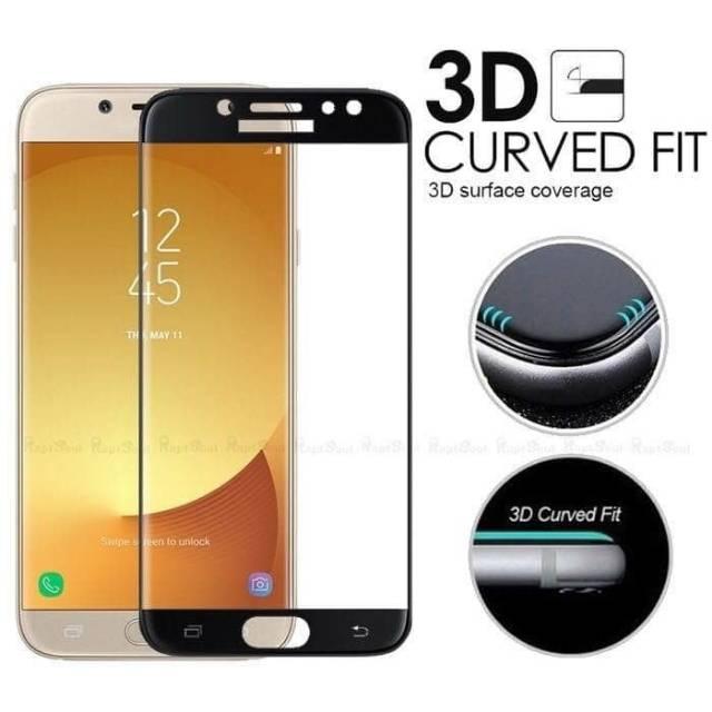 Screen Guard Tempered Glass Samsung Galaxy J7 Pro 2017 / J7Pro J730 Full Cover Layar Warna