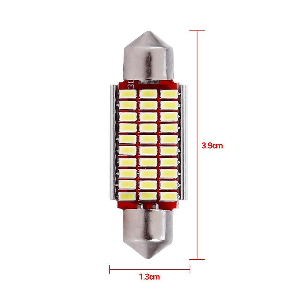 2pcs Lampu Bohlam Led Canbus Hid Putih 36mm 12smd 4040 C5w Shopee Kabin Plafon Cob Plasma 24 Mata X 26mm White Indonesia