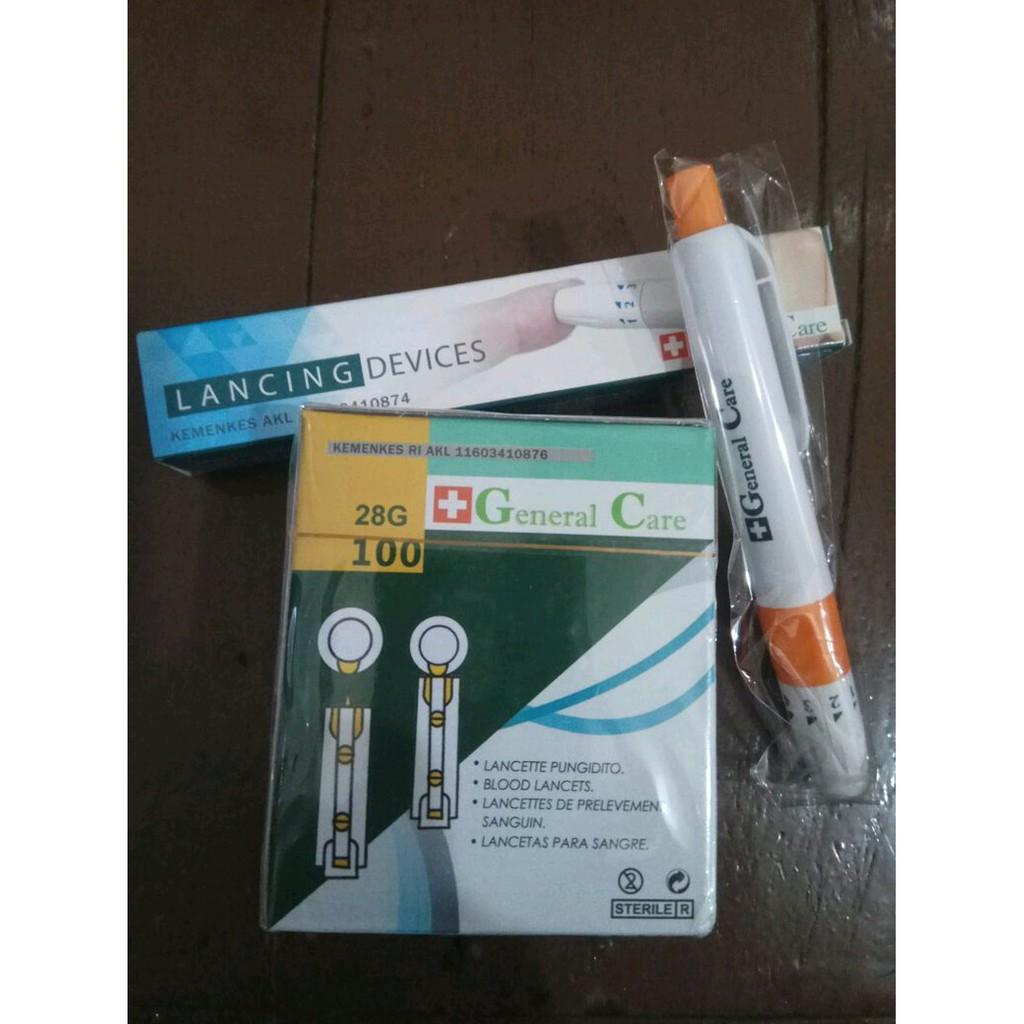 General Care Blood Lancet Isi 100 Daftar Harga Terbaru Dan Lancets Nesco Type 30g Paket Pen Bekam Jarum