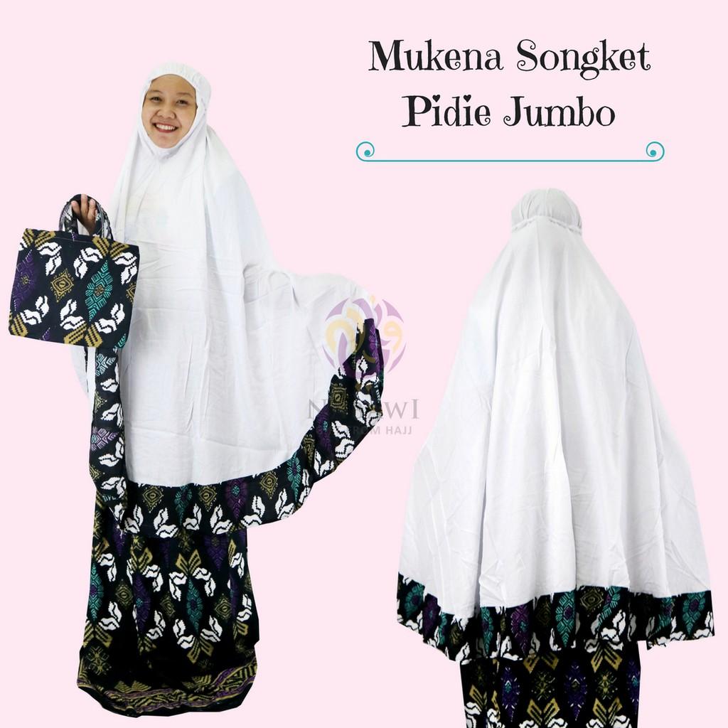 Mukena Mukenah Setelan Katun Bali Songket Pidie Jumbo Souvenir Oleh Oleh Haji dan Umroh   Shopee Indonesia