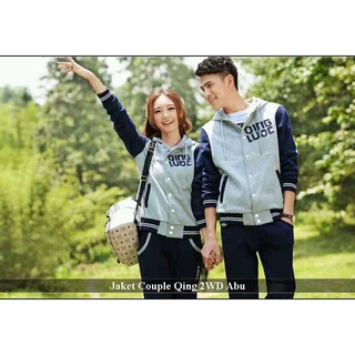 Jaket Couple Terbaru | Fashion Couple Keren | Qing 2WD Abu | Shopee Indonesia