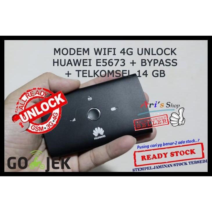 MODEM WIFI MIFI 4G TELKOMSEL HUAWEI E5673 E5673S UNLOCK GSM BOLT BYPAS